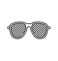 Louvered sunglasses linear icon vector