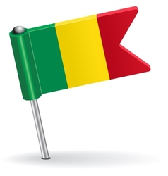 Mali pin icon flag vector