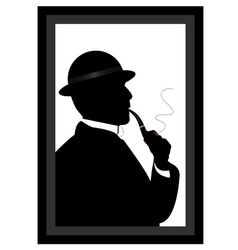 man smoking a pipe vector image
