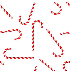 Merry christmas and happy new year candy cane vector