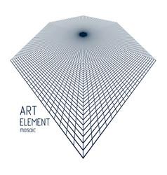 mesh lines 3d design in a shape rhombus vector image