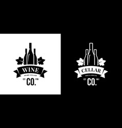 Modern wine isolated logo sign for pub tavern vector