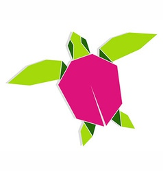 Multicolored origami turtle vector image