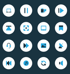Multimedia colorful icons set collection of eject vector