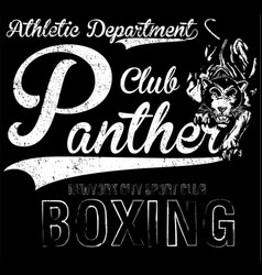 new york panther t-shirt graphic vector image