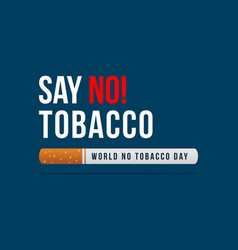No tobacco day background collection vector