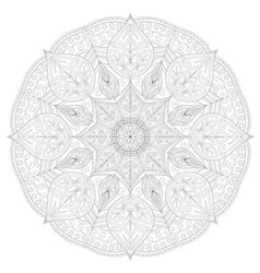 Page for coloring book round lace patternmandala vector