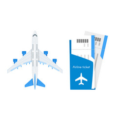 plane with airline tickets vector image