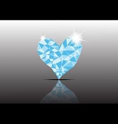 Polygon Ice Diamond Heart vector