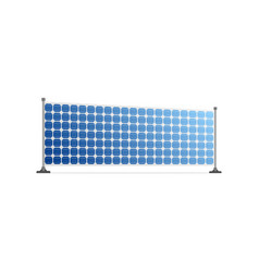 Realistic solar panel ecological power source vector
