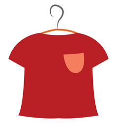 Red t-shirt or color vector