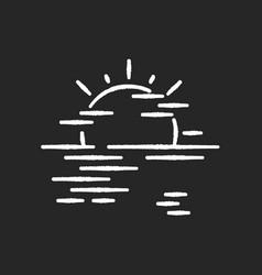 sea haze chalk white icon on black background vector image