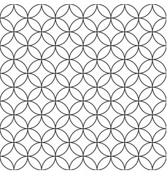 Seamless circles pattern - simple vector