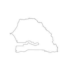 Senegal map outline vector