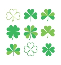 Set of shamrock vector image