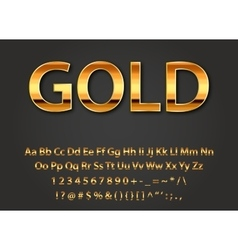 Shiny gold letters vector