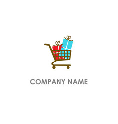 shop gift surprise logo vector image