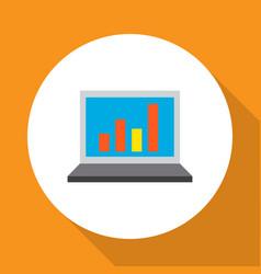 statistics icon flat symbol premium quality vector image