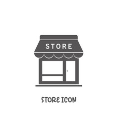 store shop icon simple flat style vector image