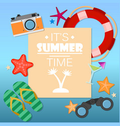 summer time background with text vector image