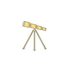 Telescope computer symbol vector