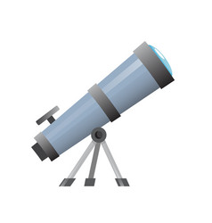 telescope icon school tool for astronomy lesson vector image
