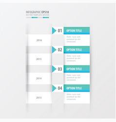 timeline blue gradient color vector image