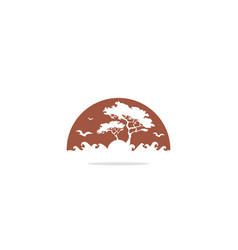 tree forest logo vector image