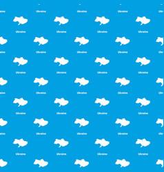 ukraine map pattern seamless blue vector image