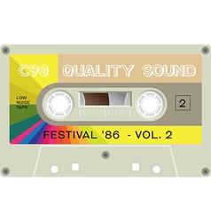 Vintage audio cassette tape vector