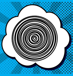 wood cross section black icon in bubble vector image