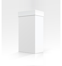 Blank White Vertical Carton box on Background vector image