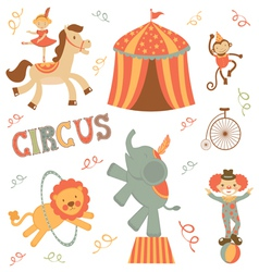 Circus set vector image vector image