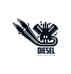 gasoline engine simple flat icon pictogram vector image vector image