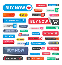 online store sale web shopping buttons vector image vector image