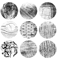 Set Circle Texture vector image vector image
