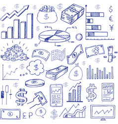 stock market had drawn symbols vector image