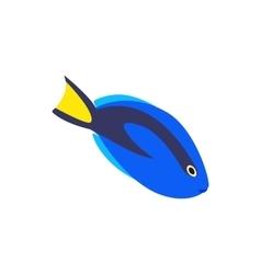 Surgeon fish icon isometric 3d style vector image
