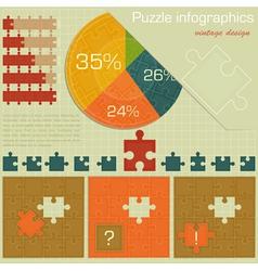 Vintage infographics set vector image