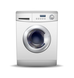 washing machine isolated on white background vector image vector image
