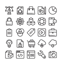 Web Design and Development Colored Icons 1 vector image