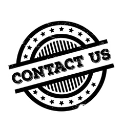 Contact Us rubber stamp vector image