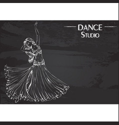 dance line chalk belly dance vector image