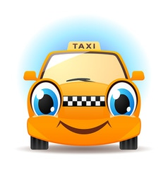 funny taxi vector image vector image