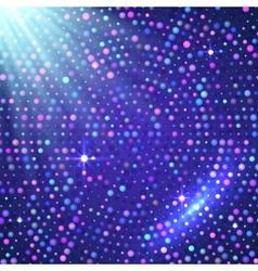 Disco light violet shining background vector image