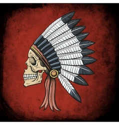 Indian Dead Man vector image