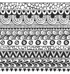 Seamless ornament from doodles in ethnic style vector image vector image