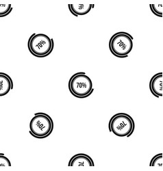 sign 70 load pattern seamless black vector image vector image