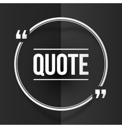White round quote frame at black folded paper vector