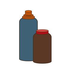 Bottle protein food sport vitamins vector